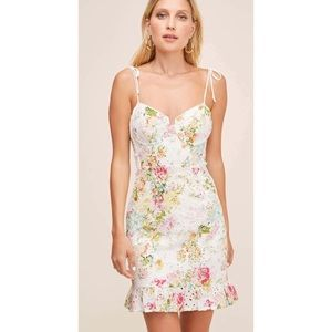 ASRT the Label Mirielle Eyelet Floral Print Dress